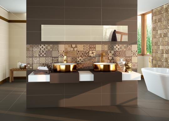 Výrazná dekorace v koupelně <a href='http://www.loskachlos.cz/shop/file/519/'>Megalos Ceramics</a>