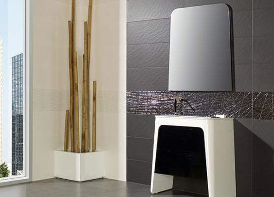 Černobílá koupelna s exkluzivním dekorem, Castila <a href='http://www.loskachlos.cz/shop/file/1700/'>Castilla</a>