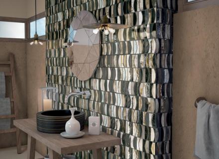 Moderní mozaika Salsa inspirovaná benátským sklem