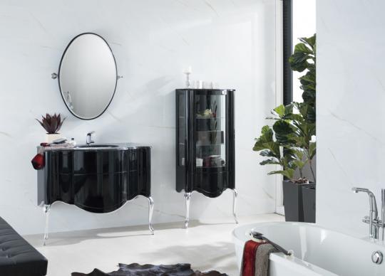 Luxusní koupelnový nábytek v černém lesku <a href='http://www.loskachlos.cz/shop/goods/337/'>Piano</a>